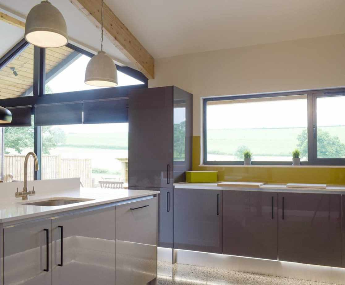 Well-equipped kitchen within the open-plan design
