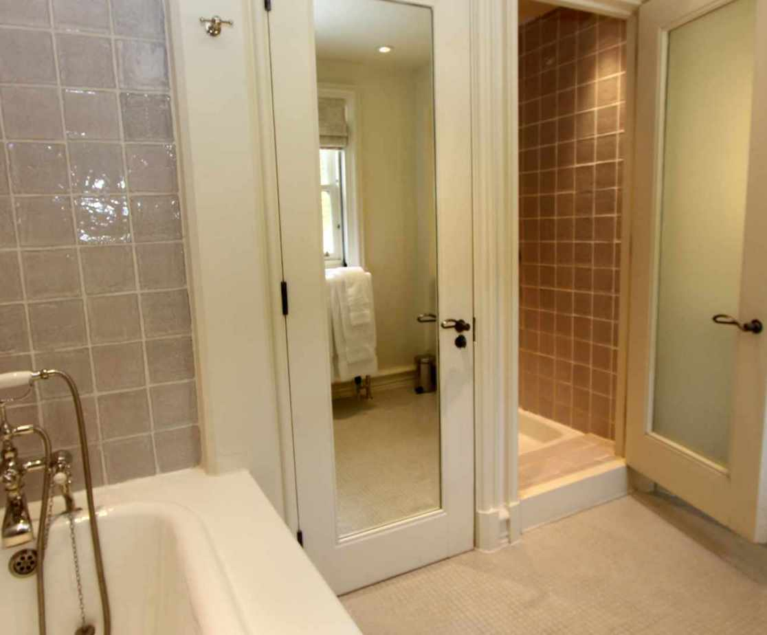 The bathroom suites are stylish and modern