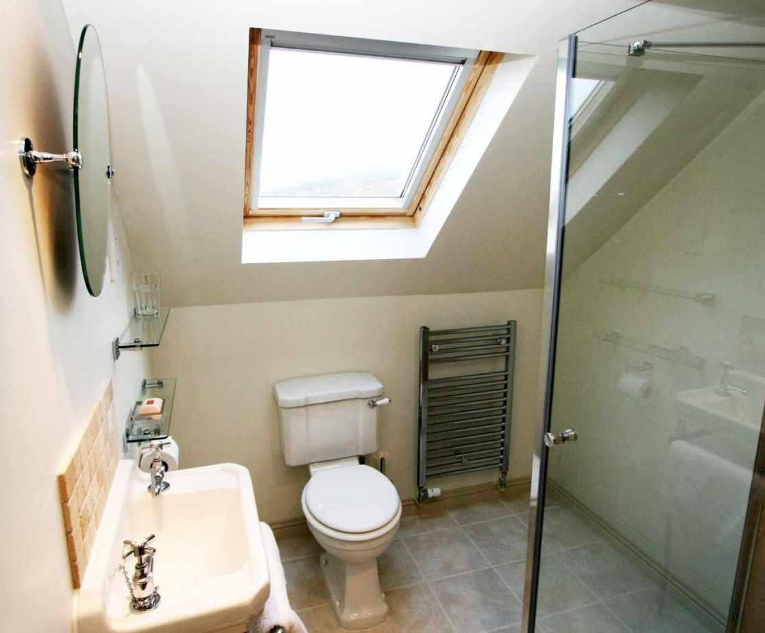 The en-suite shower room for bedroom 4