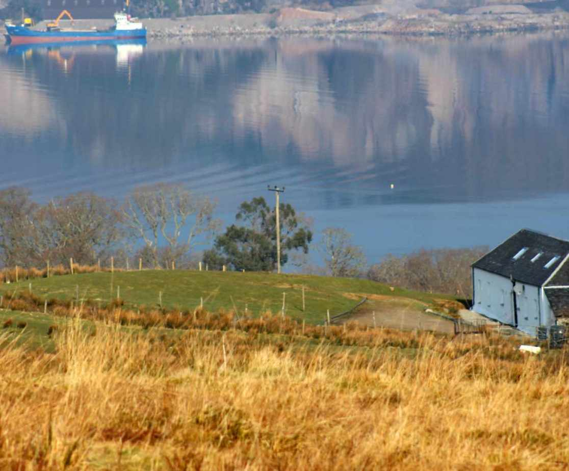 The cottage has magnificent views over Loch Fyne