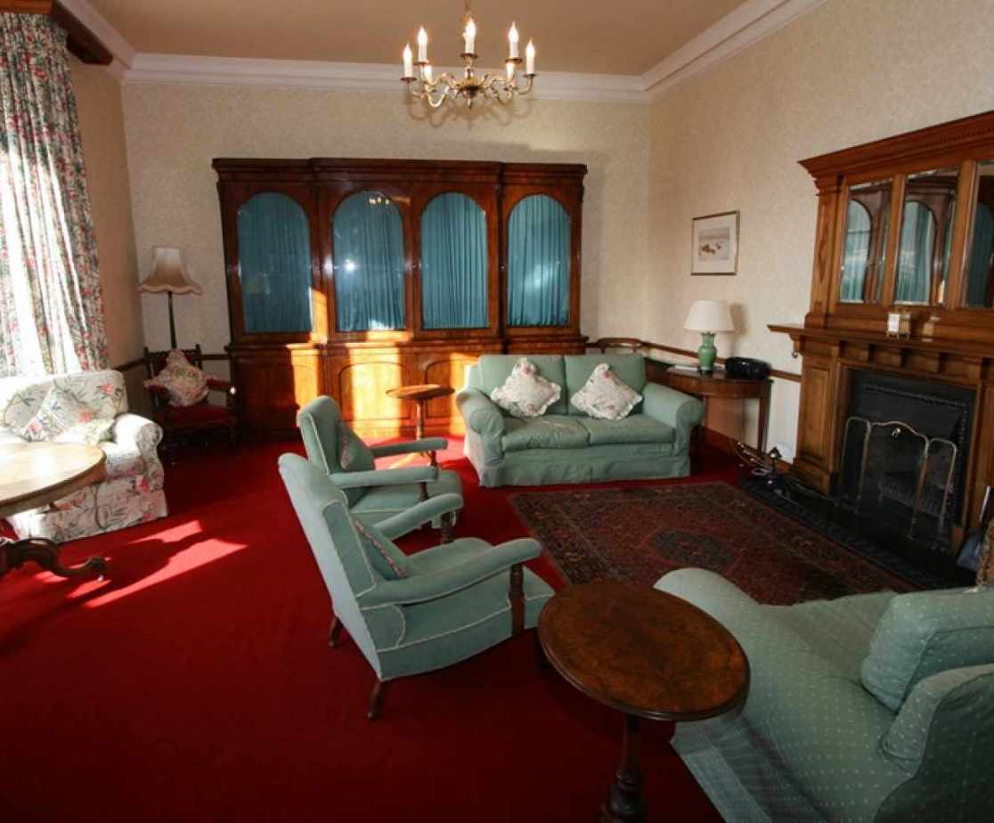 The spacious drawing room