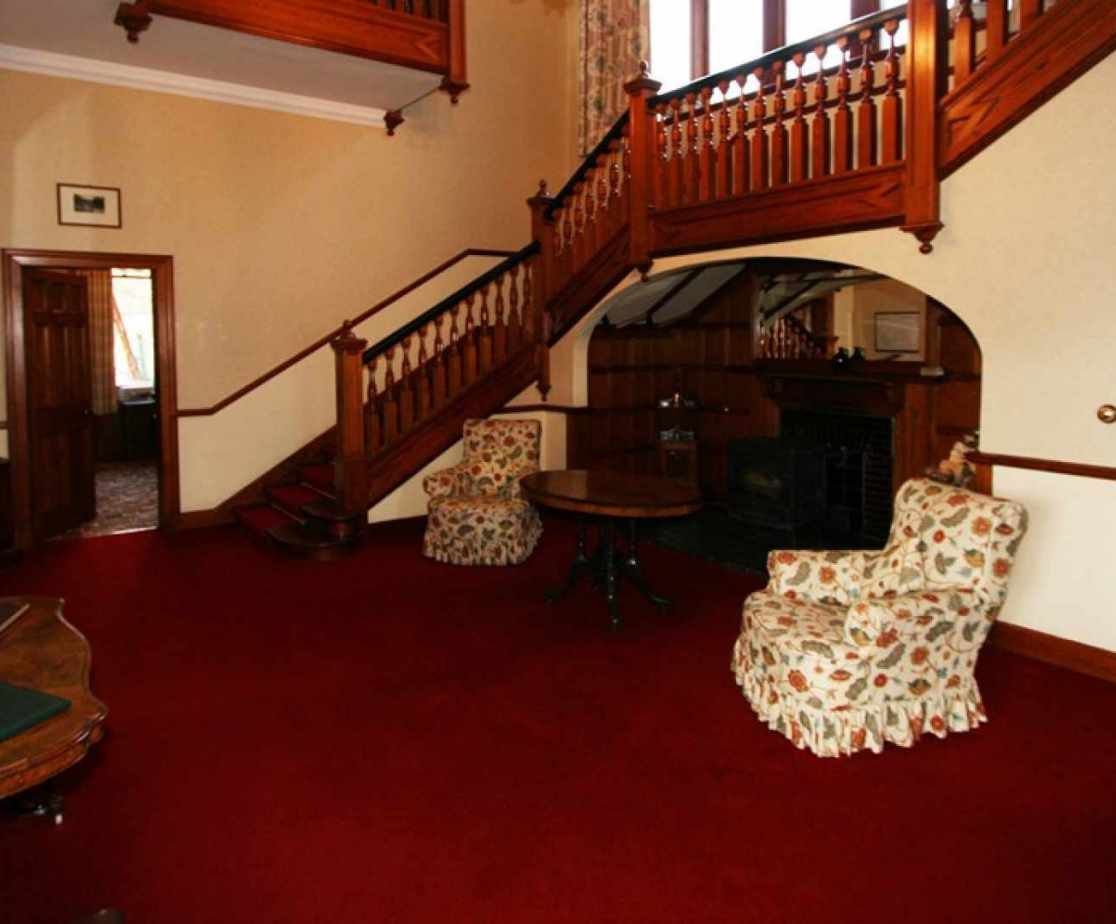 The snug below the stairs is a quiet retreat
