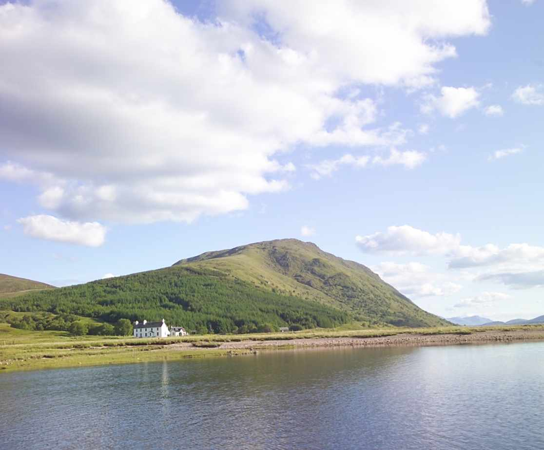 Remote Highland Lodge by Loch Ericht