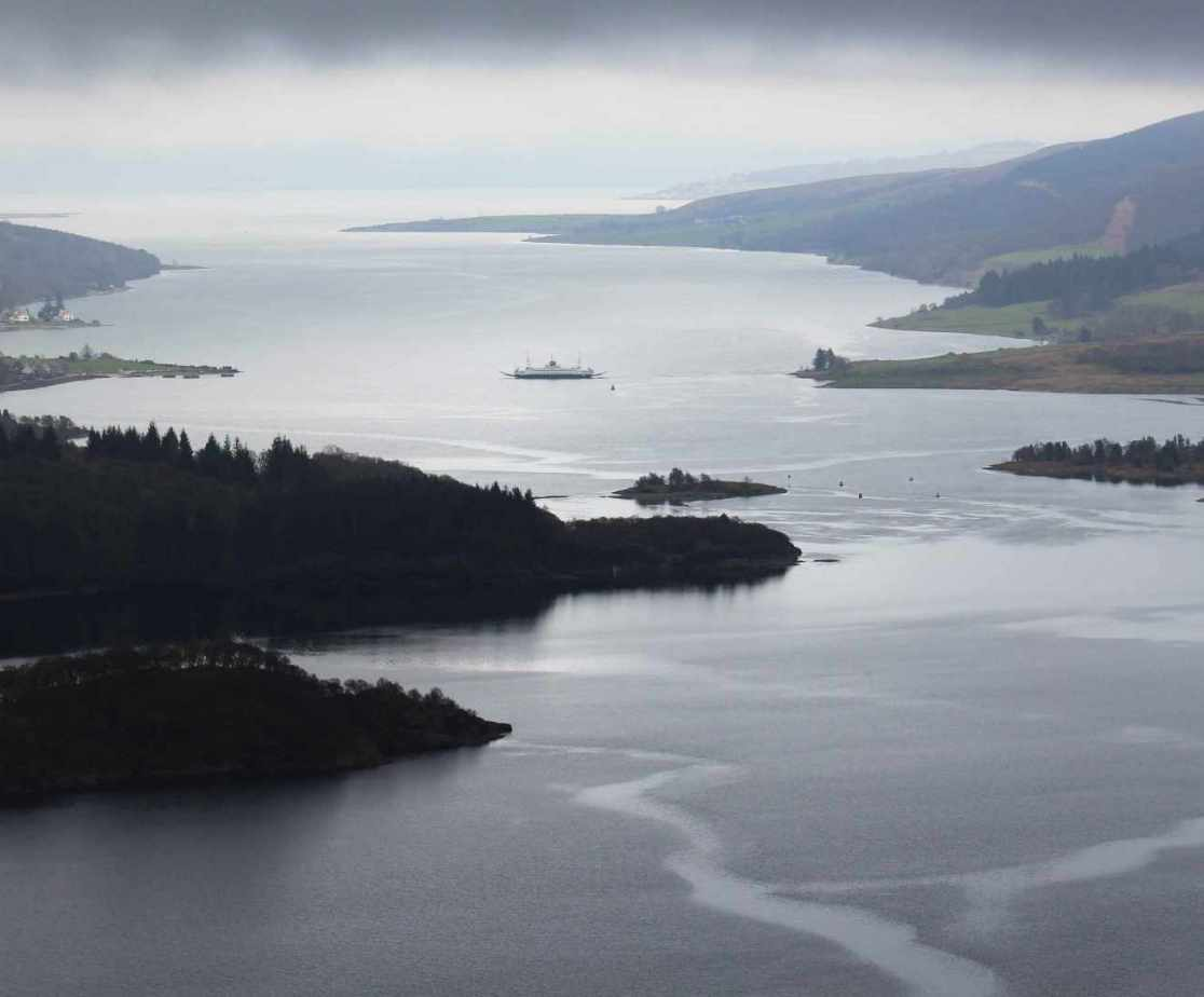The views across the Kyles of Bute