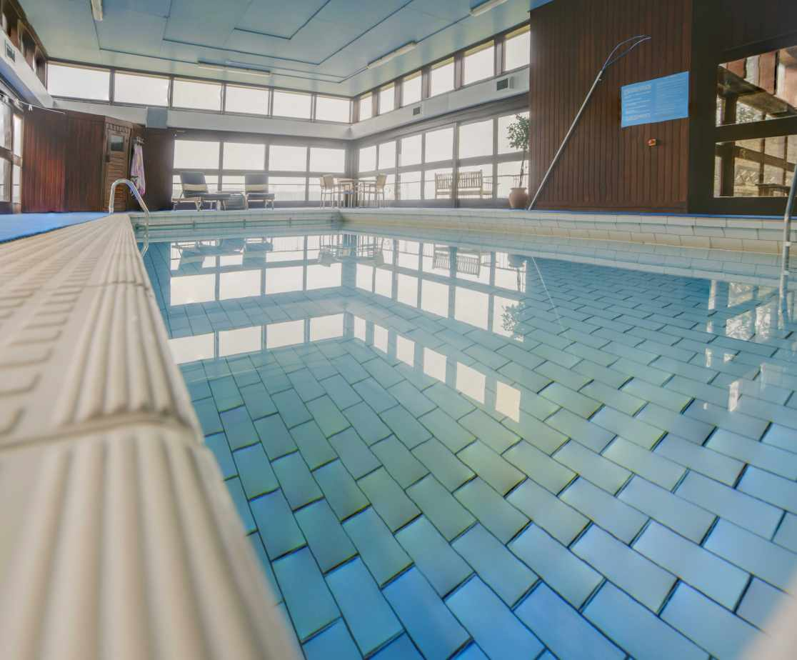 Inviting indoor swimming pool