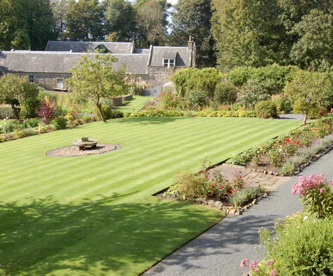 Luxury holiday home in Scotland. Formal gardens