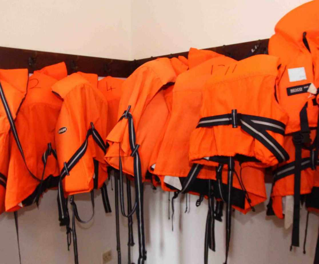 Life jackets for exploring the water ... safety first!