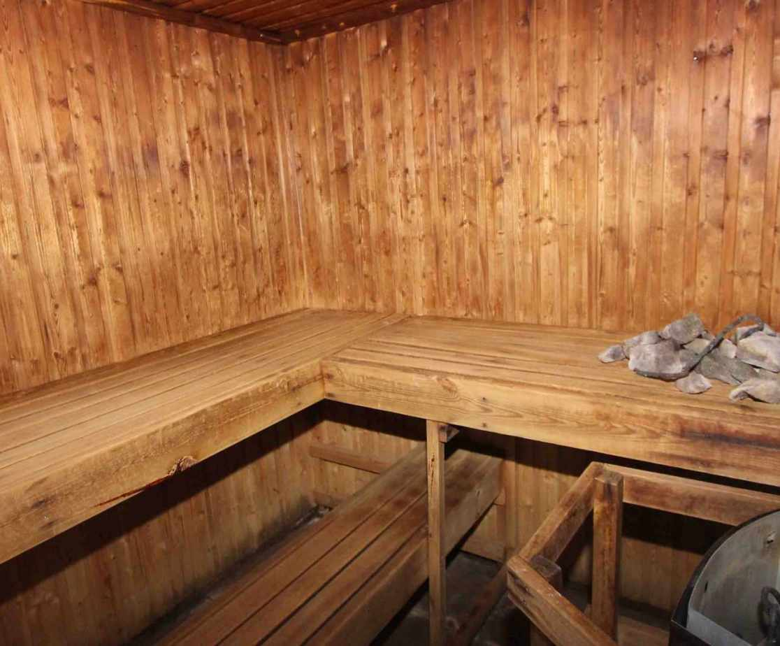 And a sauna for winding down after the activity of the day