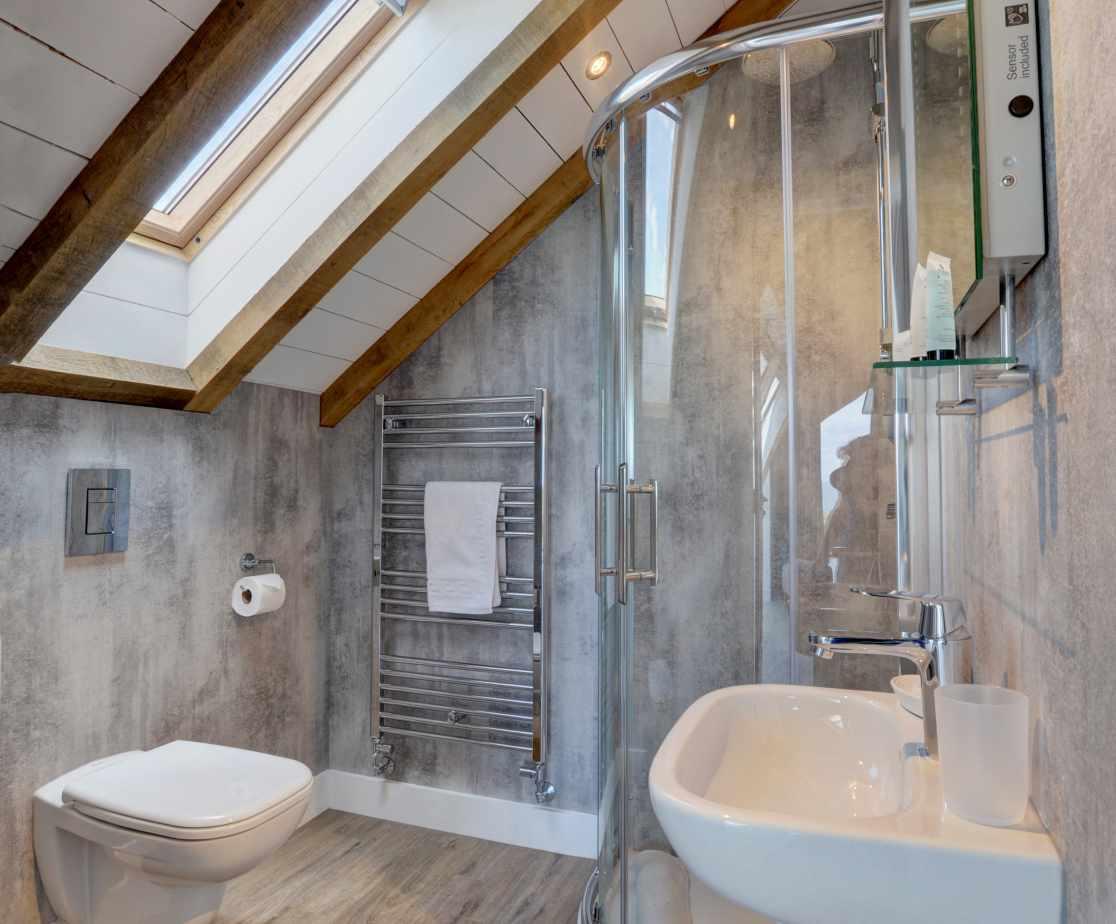 Modern ensuite bathroom with shower