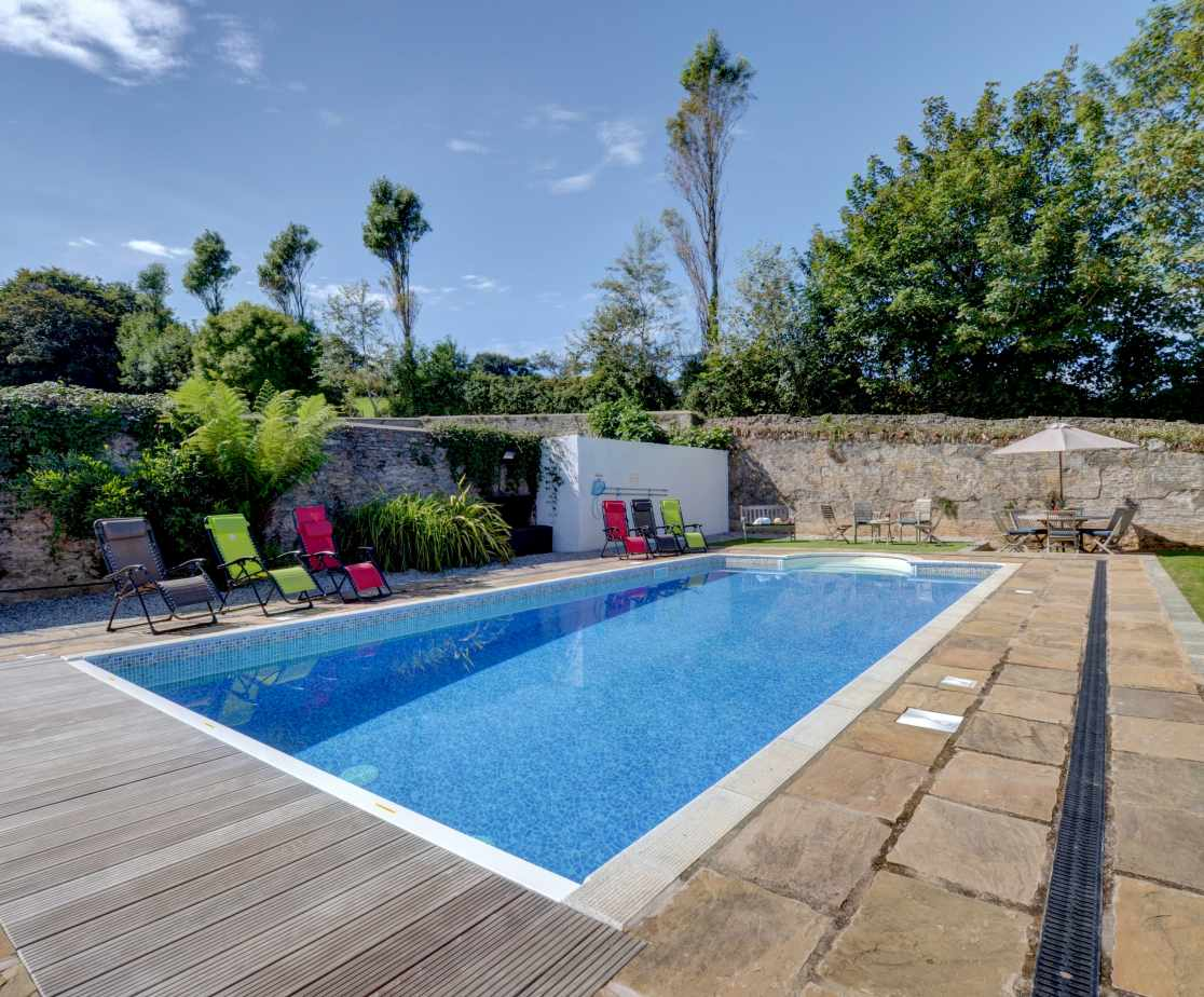 Enjoy a dip in the pool after a day of exploring the beautiful coastline of North Devon
