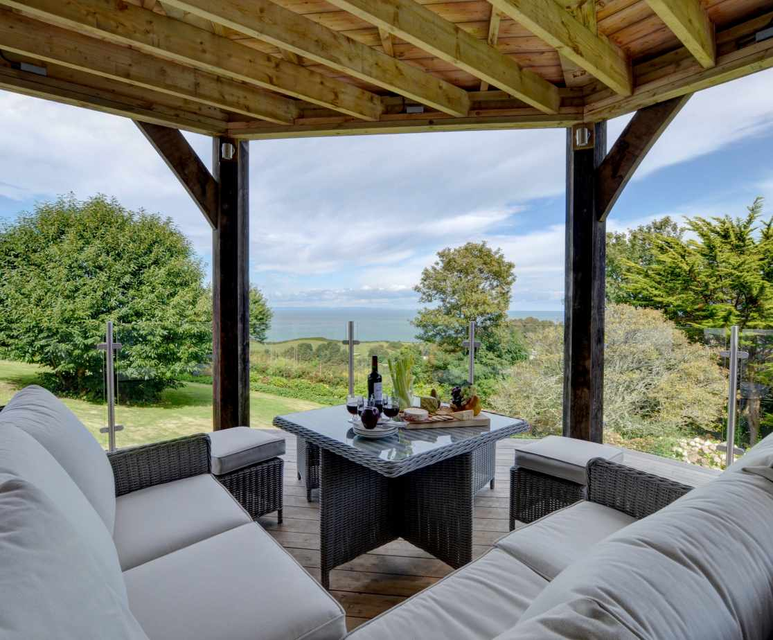 Undercover seating area with amazing views