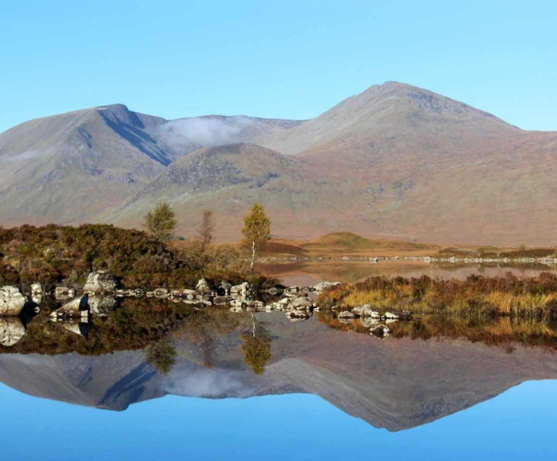 Lochan na h-Achlaise on Rannoch Moor