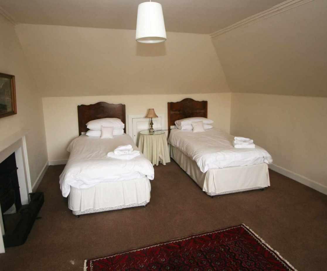 Top floor twin bedroom in the eaves, perfect for children?