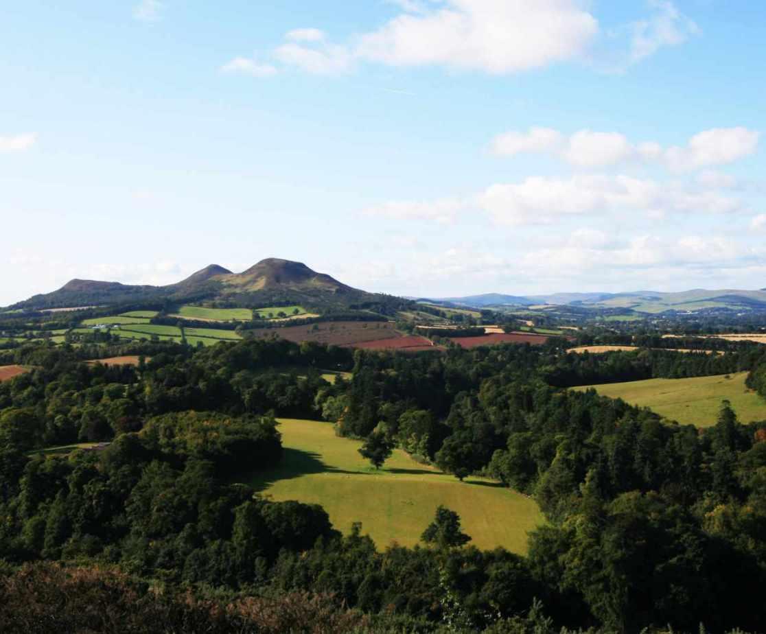 Scott\'s View overlooking the Eildon Hills towards Melrose