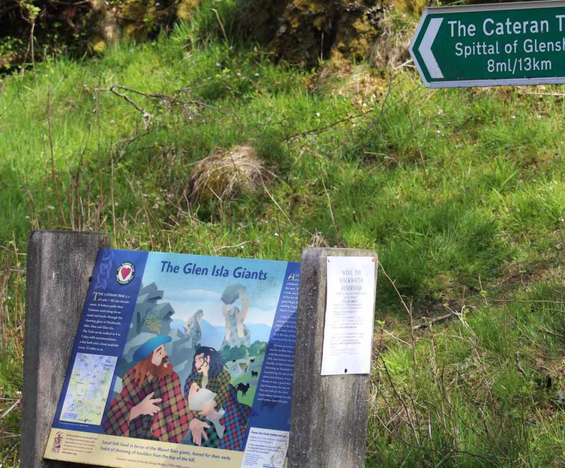 There are great walks locally including the Cateran Trail