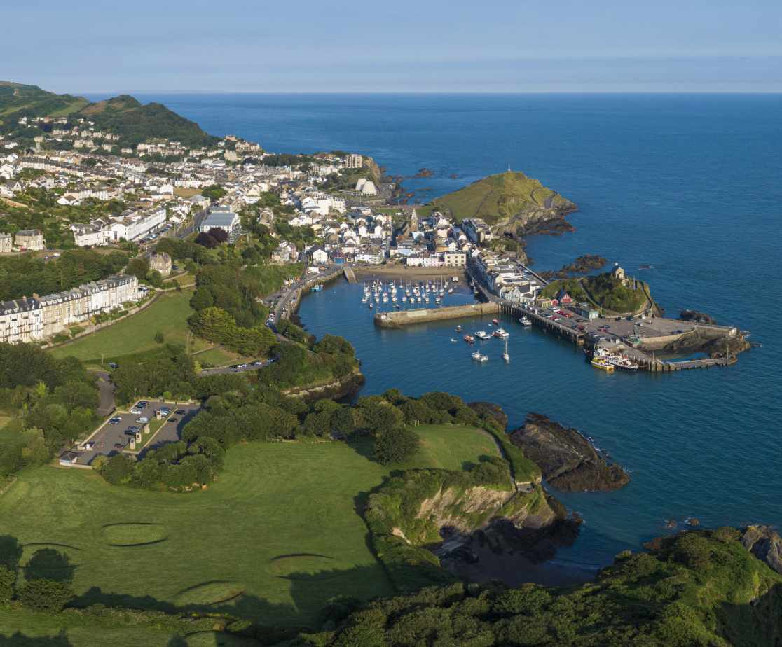 Areal view of Ilfracombe