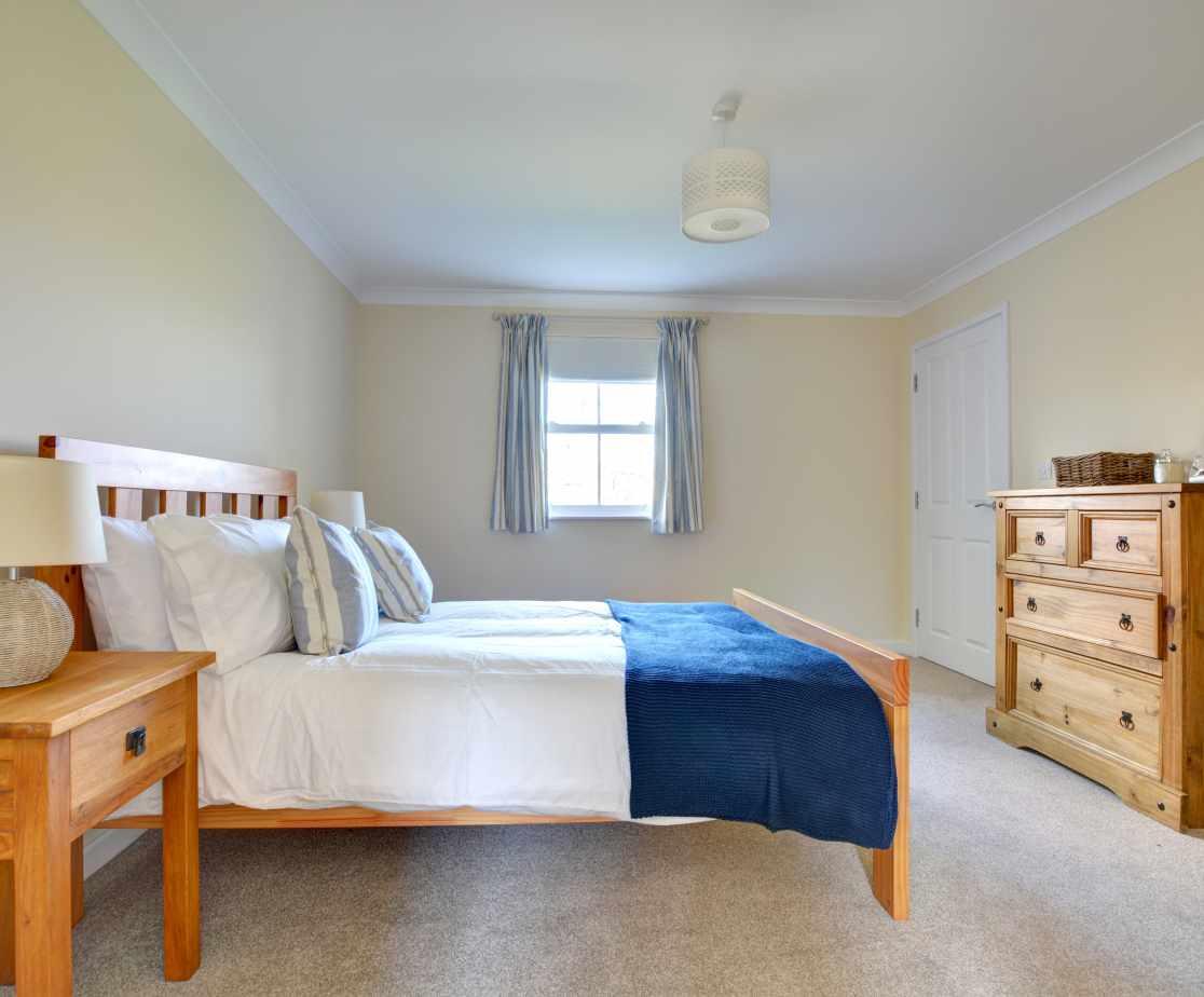 Ground floor Master double bedroom with sea views