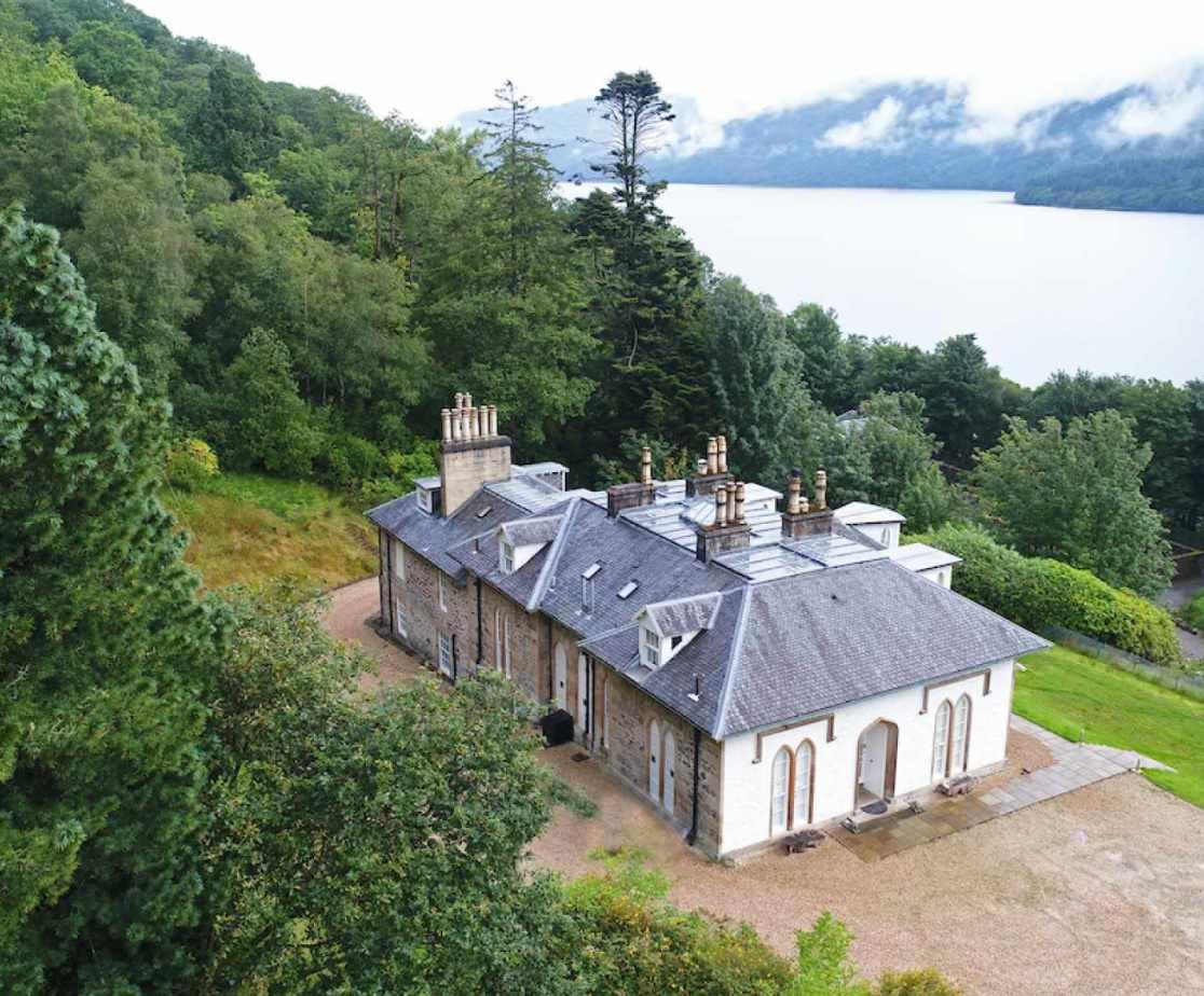 Large luxury house on Loch Lomond