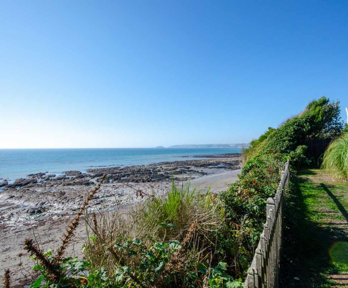 View from the garden across towards Looe and St George\'s Island
