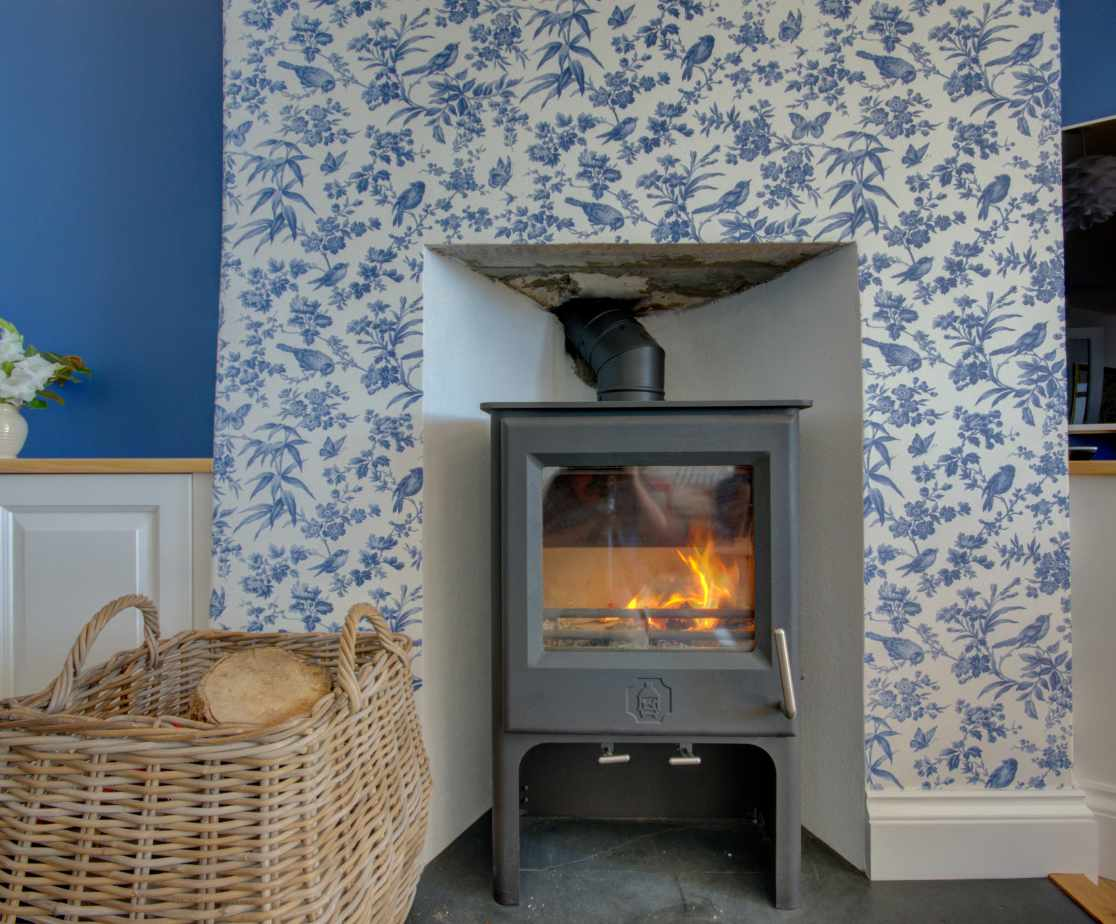 Woodburner perfect for cooler evenings