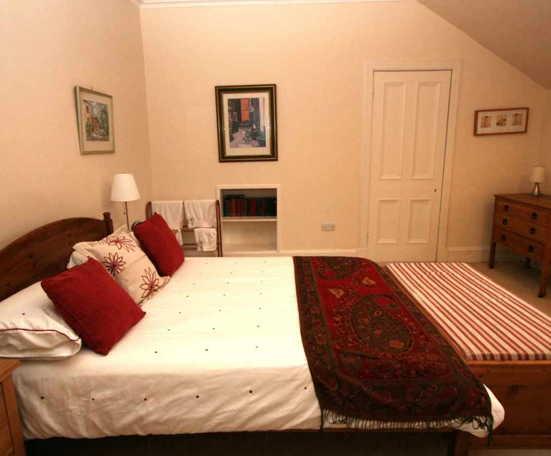 Room 1 is one of two double rooms with views to the front