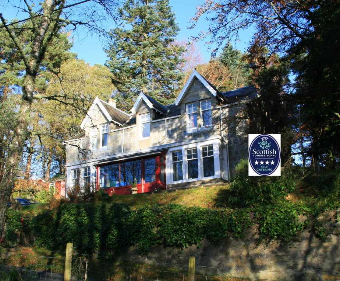 Edwardian holiday villa near Newtonmore, Scotland with 4 star rating
