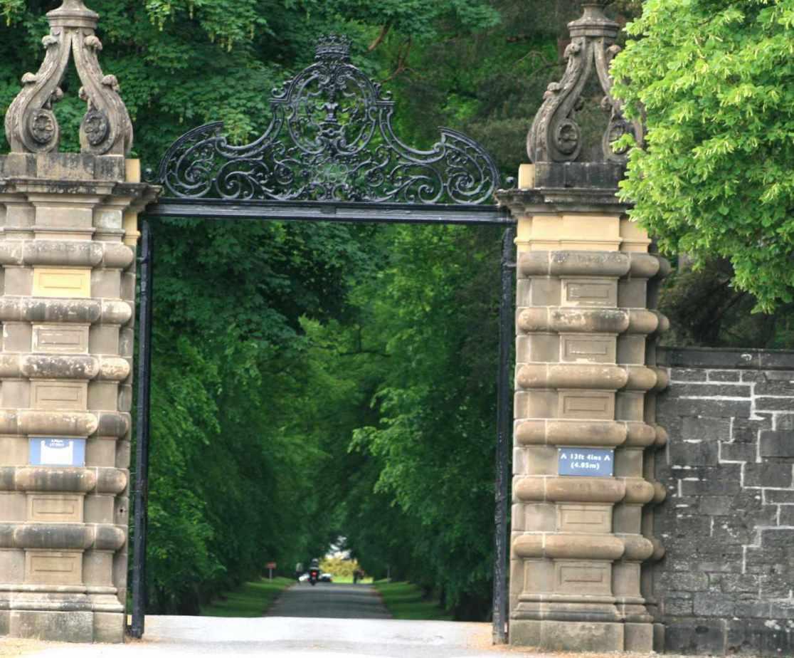 Travel through the gates to Blair Castle