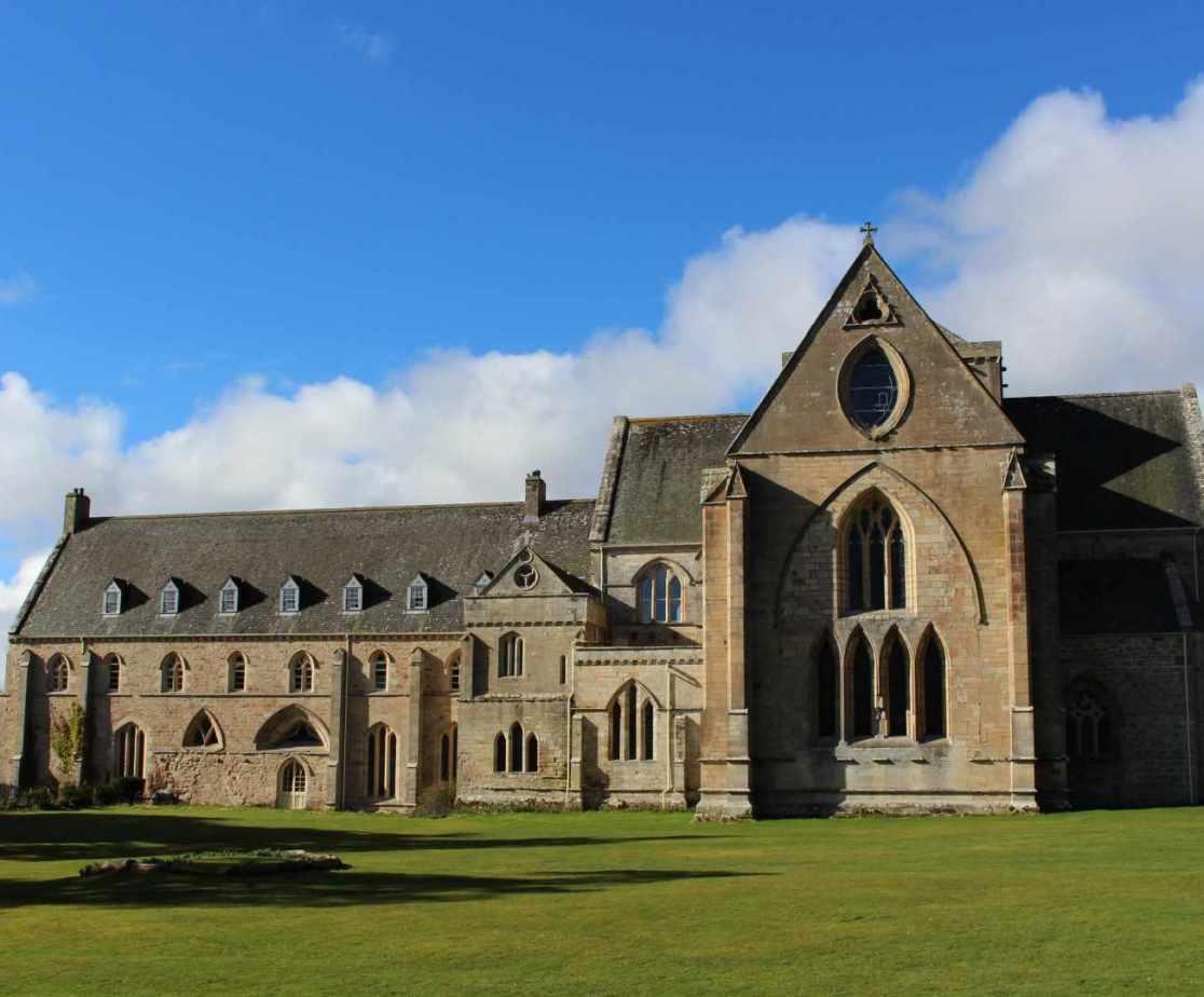 Pluscarden Abbey is a local landmark