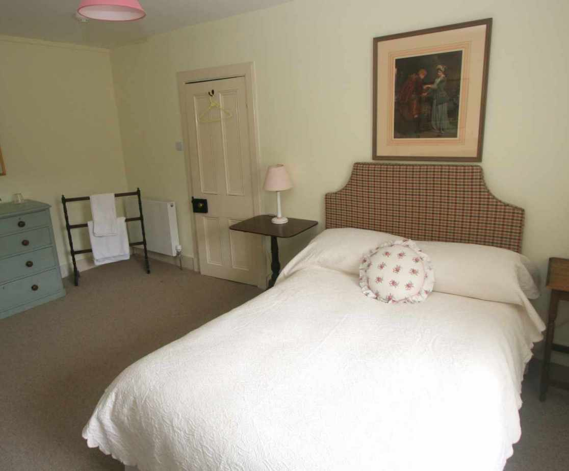 \'Double Four\' bedroom with double bed, second floor