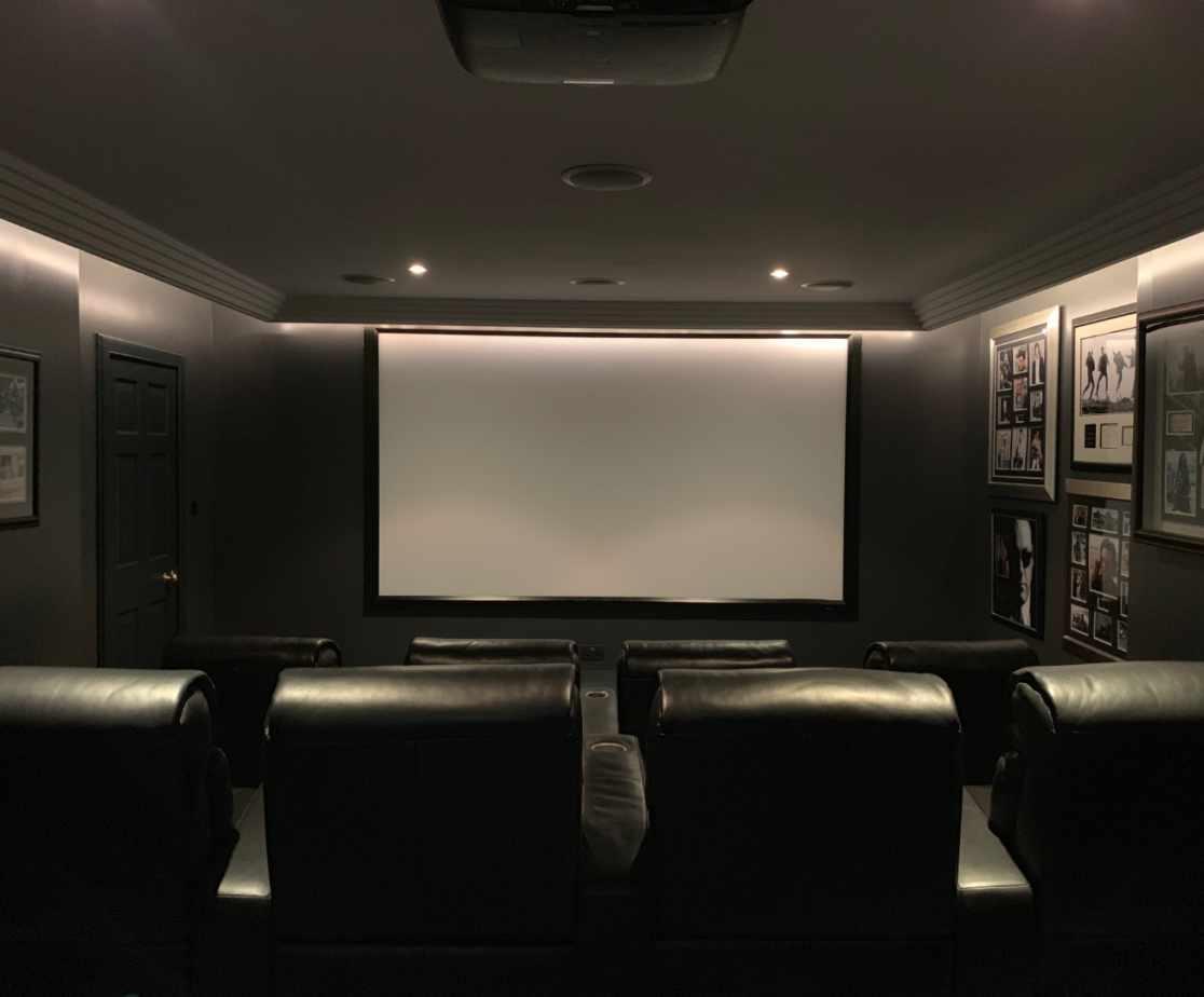 Eight seater cinema room