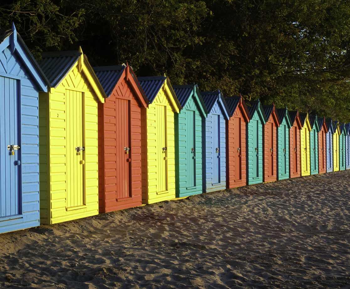 Huts at Llanbedrog Beach