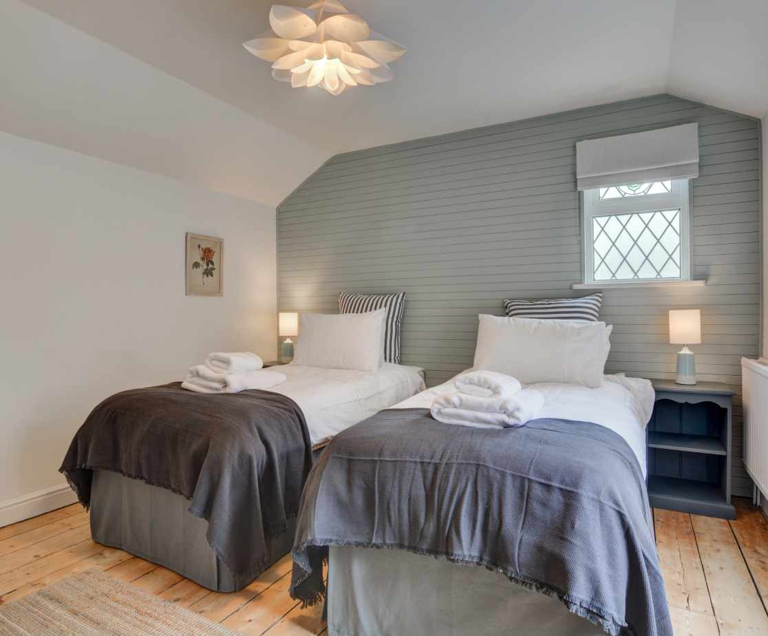 Second floor bedroom with twin or superking bed