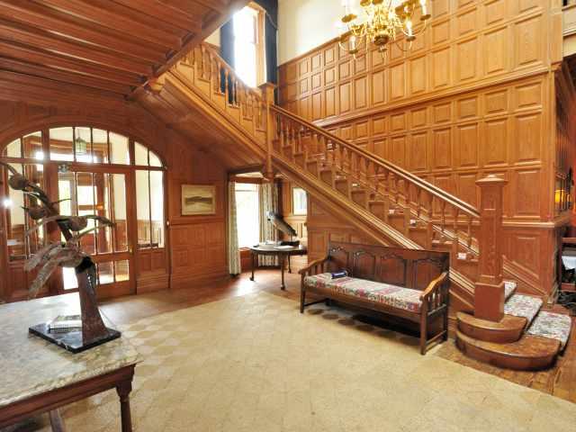 Impressive panelled hallway