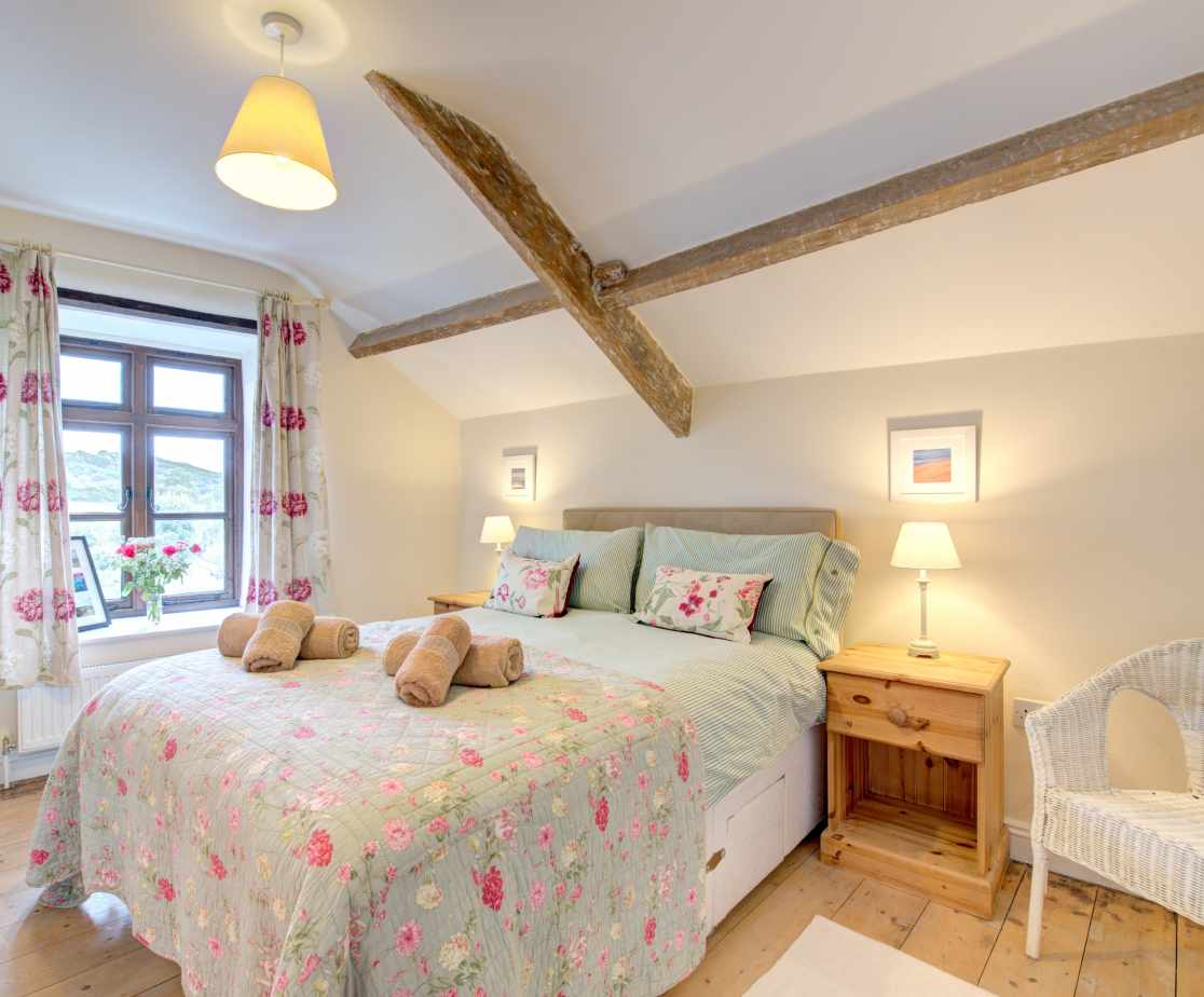 Pretty floral double bedroom which also has an ensuite