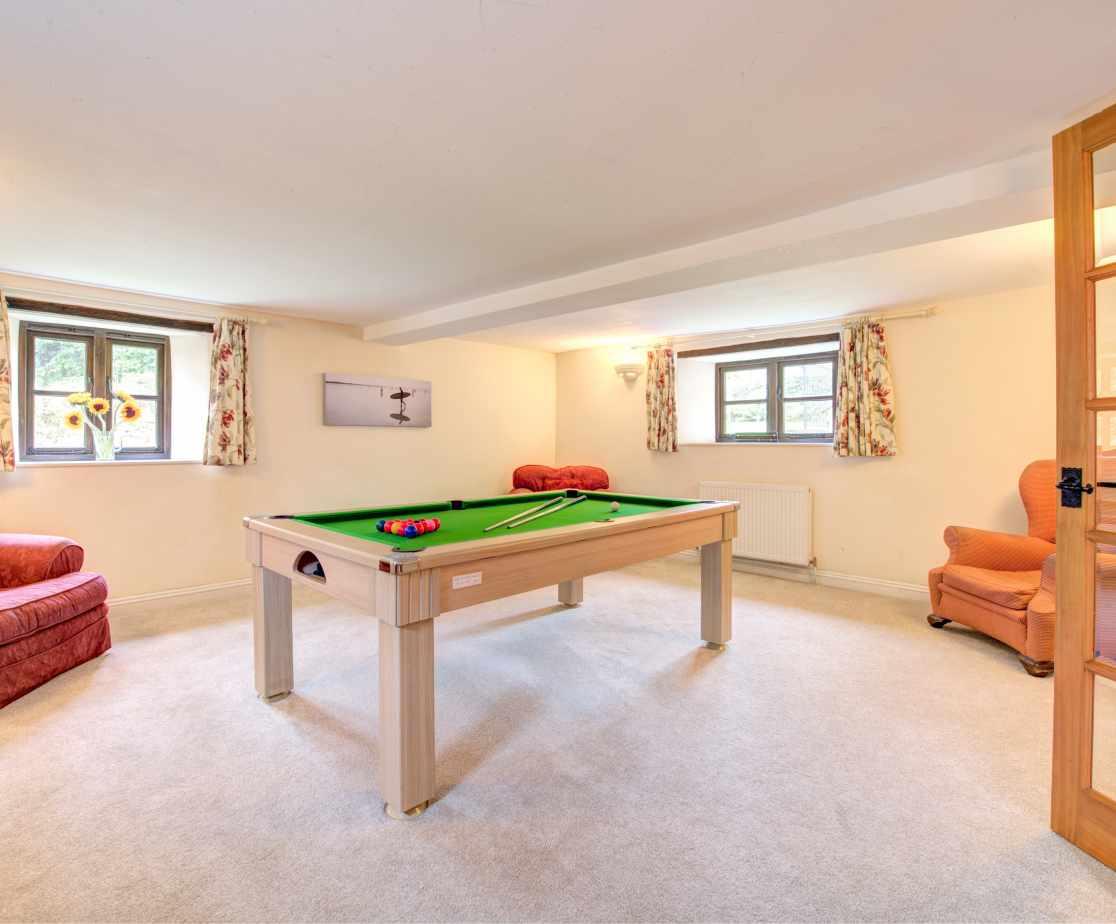 The fantastic Pool room!