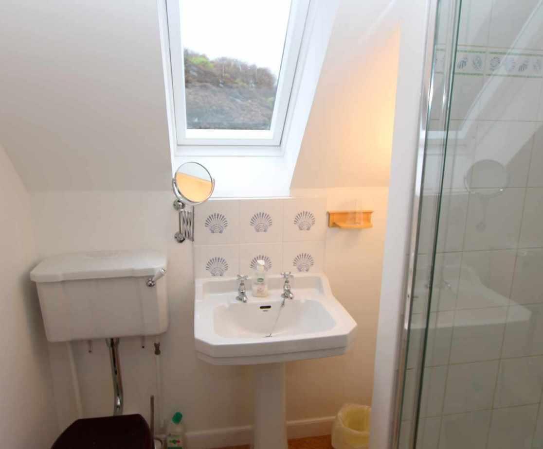 En-suite shower room for \'Hughs\' on the first floor