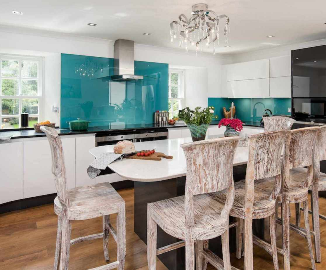The modernised kitchen is well equipped