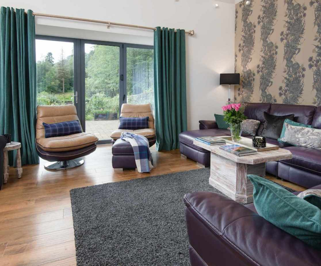The main sitting room with comfortable sofas