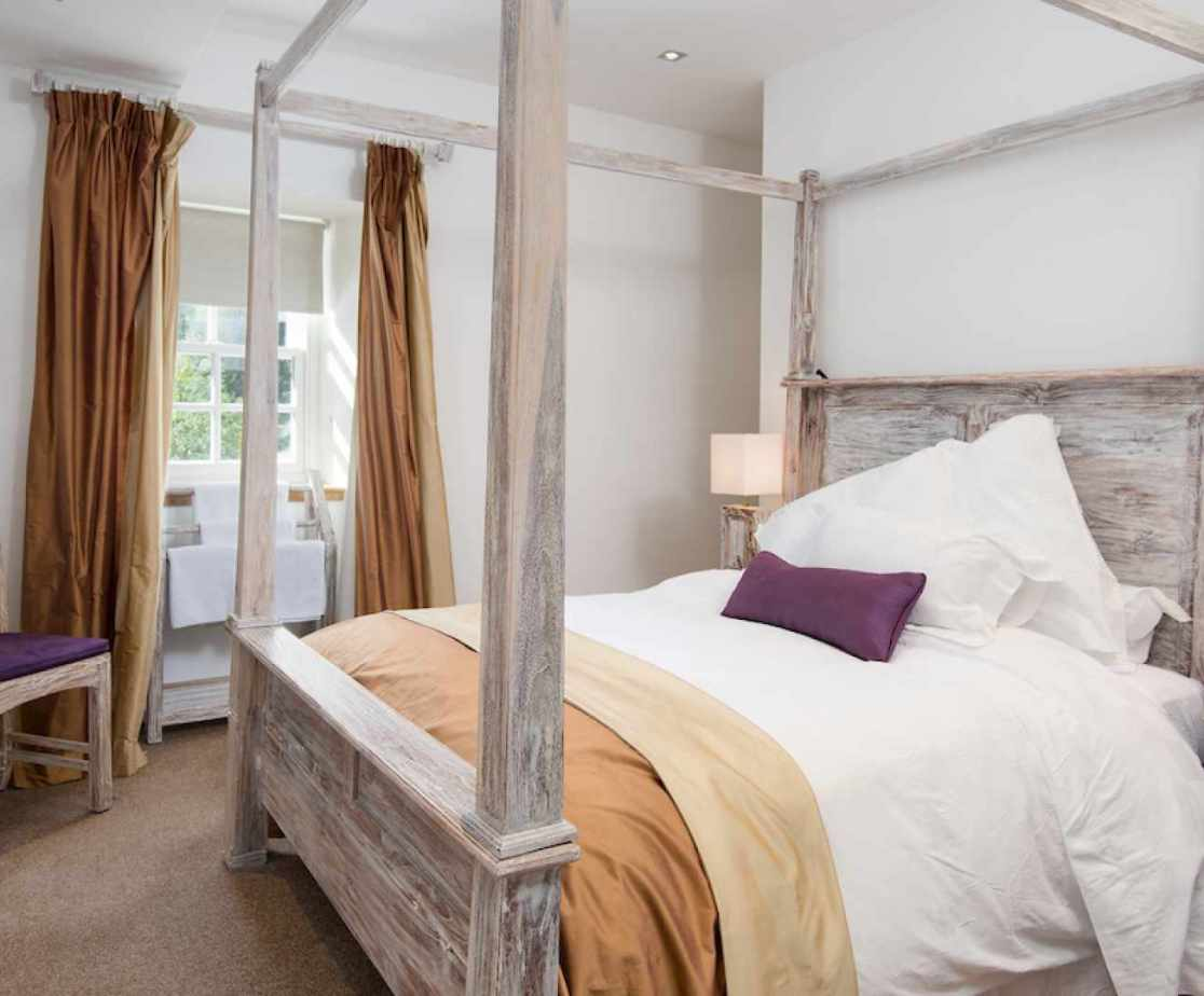 A beautiful four poster bedroom