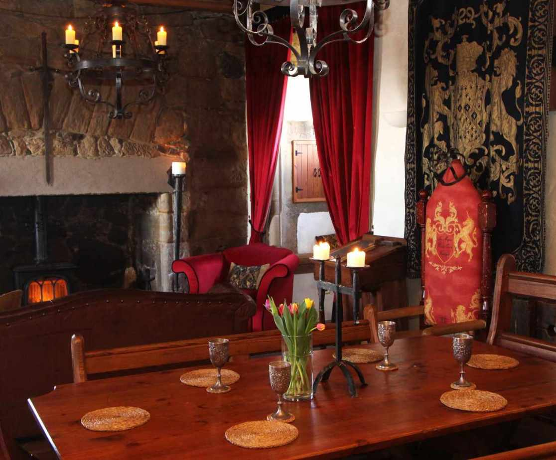 Imagine the medieval banquets around the dining table in the Great Hall.