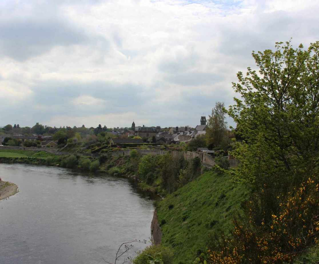 Crossing the river Tweed into Scotland at Coldstream