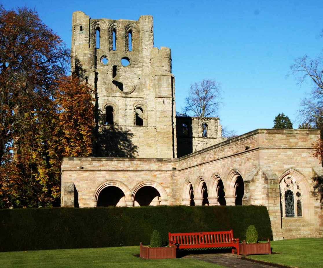 Ruined 12th century abbey in Kelso