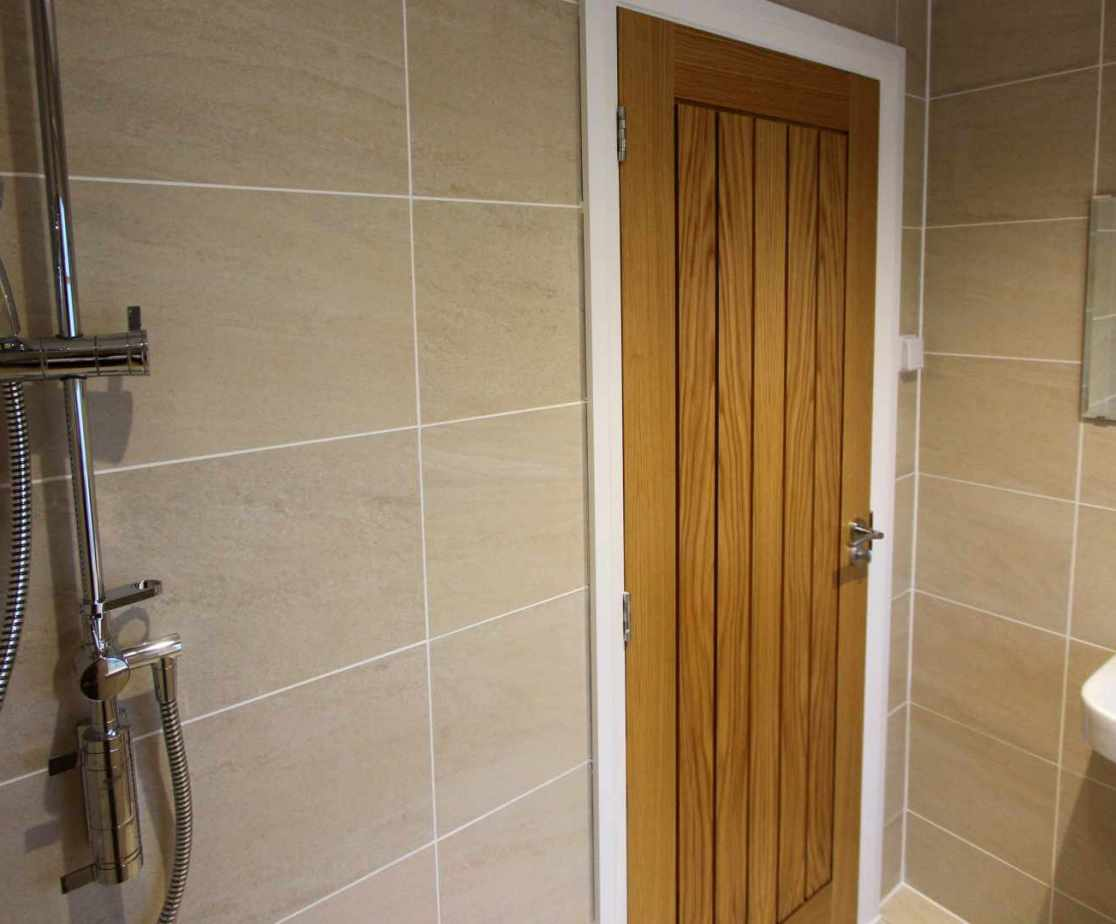 The wet room shower on the gound floor