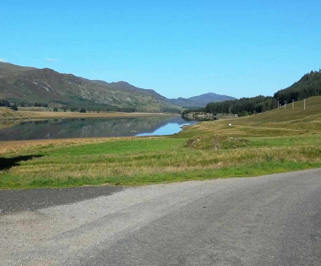 Surrounded by moorland, woodlands and the loch