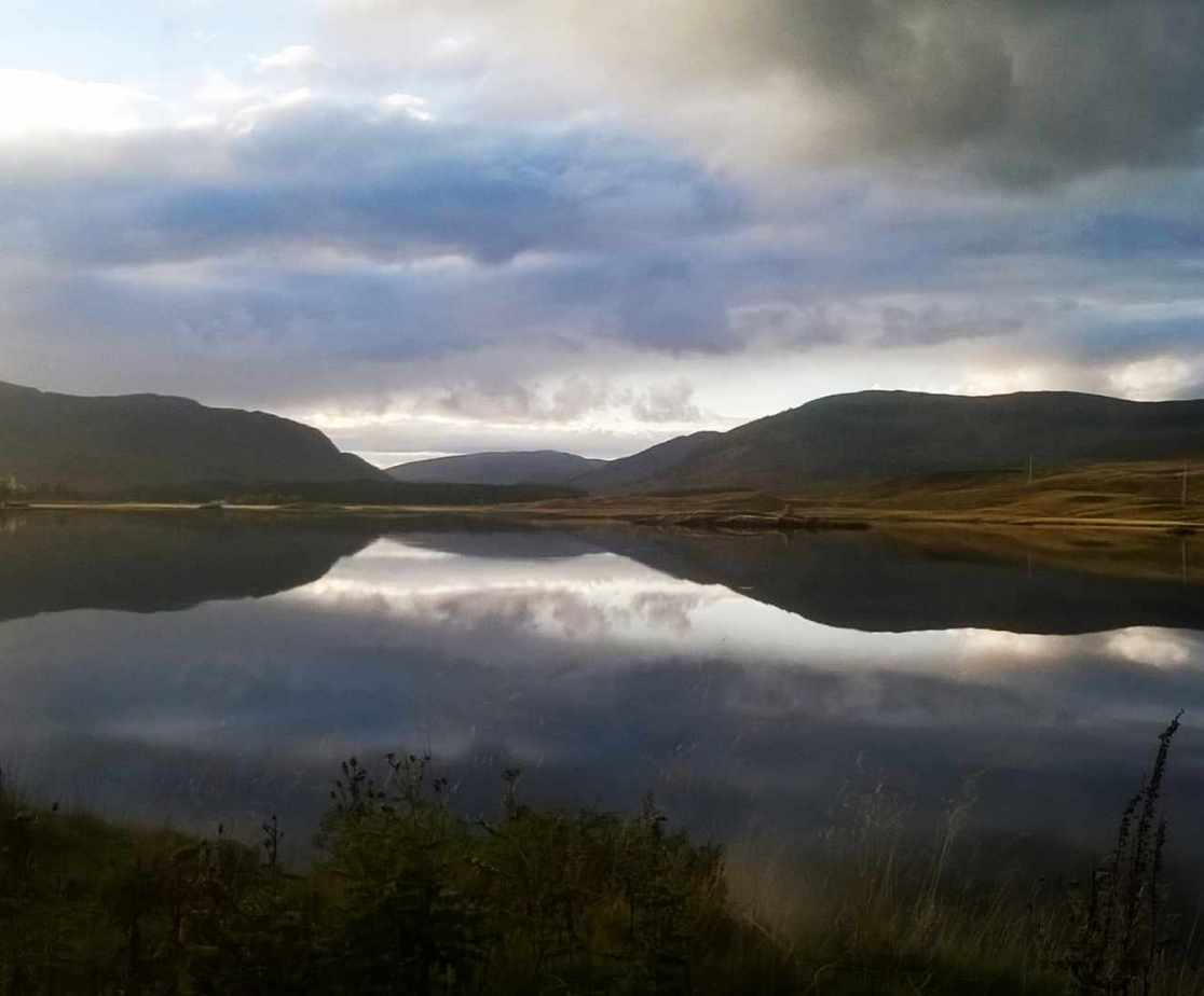 The view from the Lochside Holiday House, Scotland