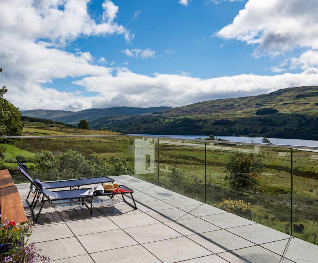 Outside dining with views of Loch Tay