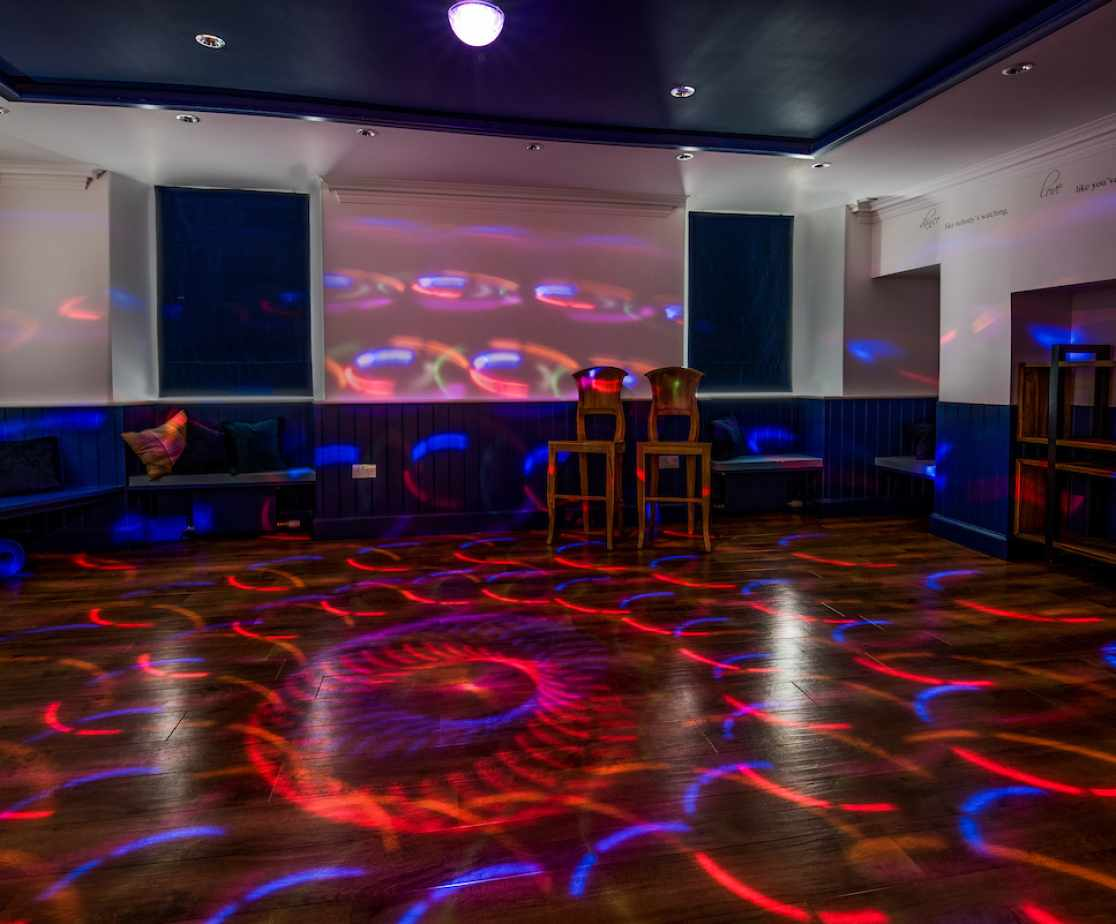 A multi-purpose room for meditation or partying