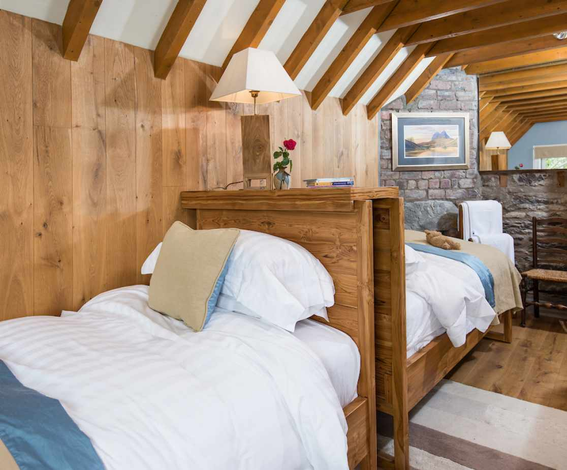 The \'Merlin\' bedroom is the only twin-bedded room