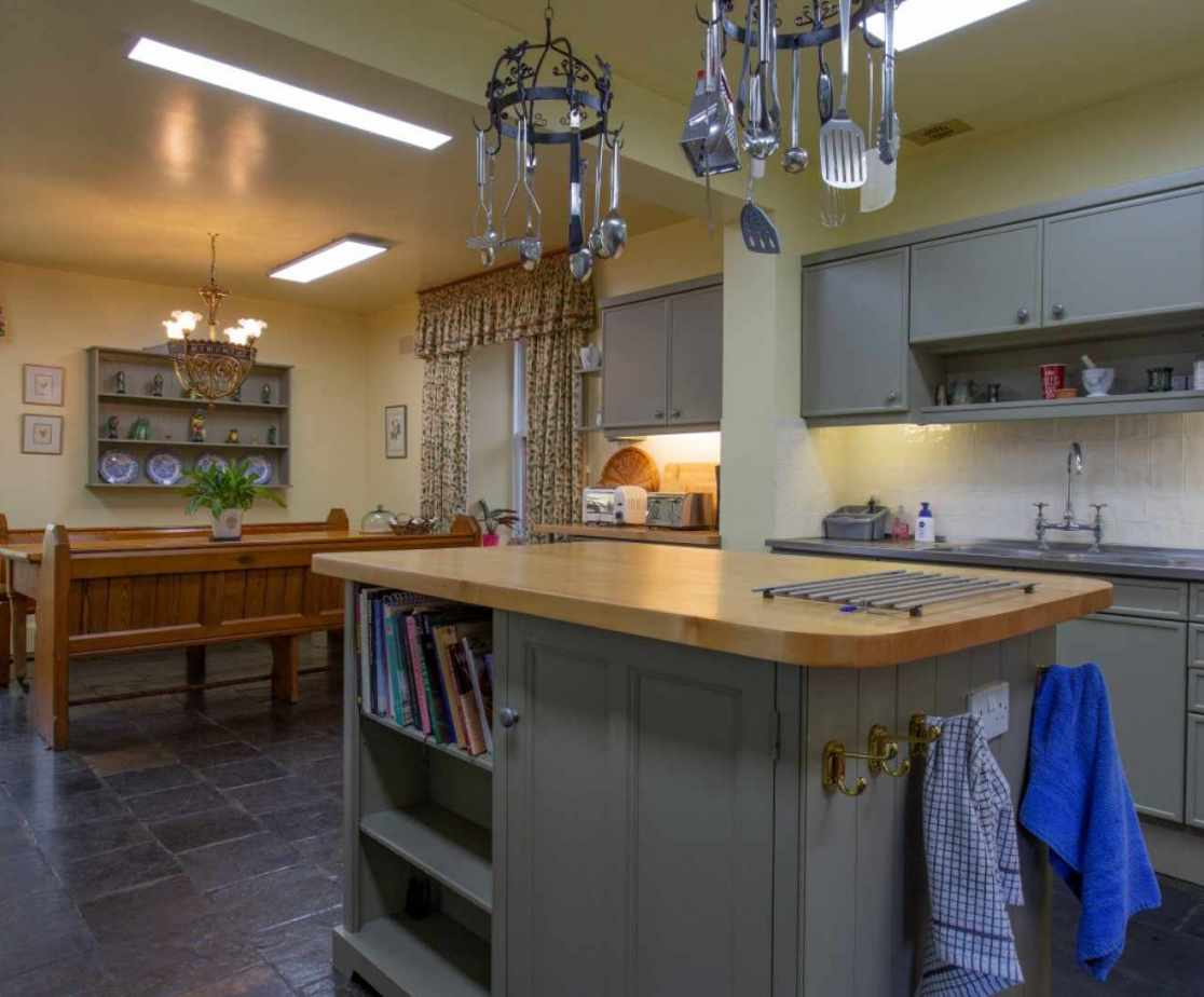 This kitchen has all the mod-cons needed to cater for large groups