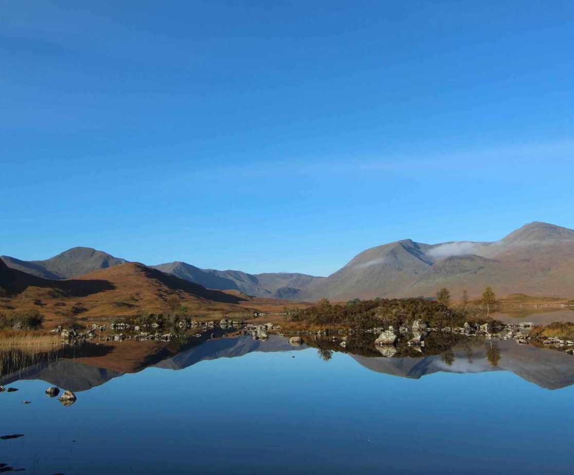 Between Glencoe and Rannoch Moor, is Lochan na-h-achlaise